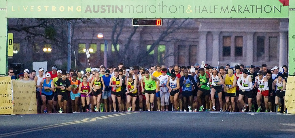 Austin Marathon Starting Line... Ready Set Go!